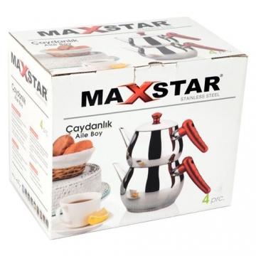 Maxstar Çelik Aile Boy Çaydanlık Seti