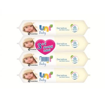 Uni Baby Sensitive Islak Bebek Havlusu 4 Al 3 Öde