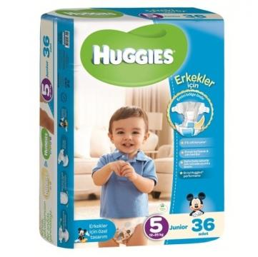 Huggies Junior No:5 Erkek Bebek 36' lı