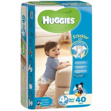 Huggies Maxi Plus Erkek Bebek 40' lı