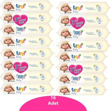 Uni Baby Sensitive Islak Bebek Havlusu 16 Adet / 896 Yaprak