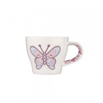 Tantitoni Porselen Kupa Kelebek Desenli 360 ml