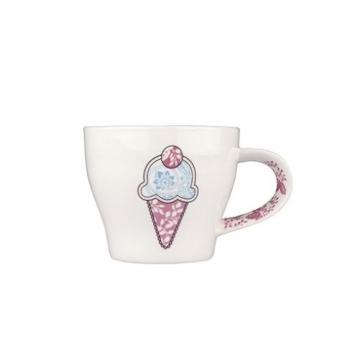 Tantitoni Porselen Kupa Dondurma Desenli 360 ml