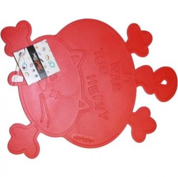 Tantitoni Silikon Nihale Kedi Şekilli  Kırmızı 24x18x0.25cm