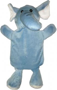 Fil Desenli Sıcak Su Torbası Mavi