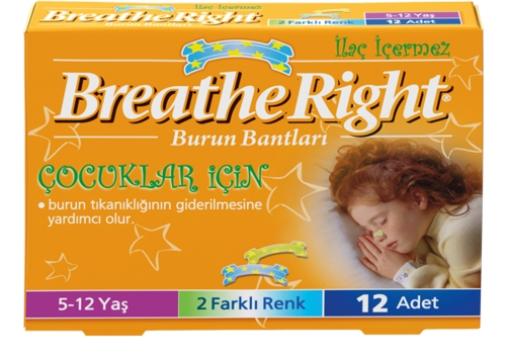Breathe Right Burun Bantları 5-12 Yaş Çocuklar İçin 12 Adet