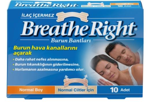 Breathe Right Burun Bantları Normal Boy Normal Ciltler İçin 10 Adet