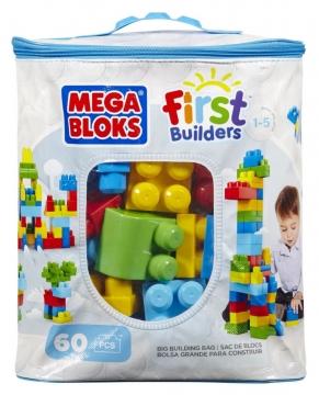 Mega Bloks Çantalı Renkli Bloklar 60 Parça Mavi