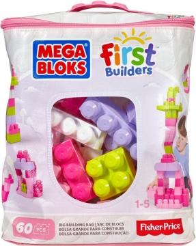 Mega Bloks Çantalı Renkli Bloklar 60 Parça Pembe