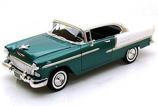 Chevy Bel Air 1955 Model Metal Araba 1:24