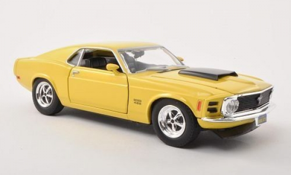 Ford Mustang Boss 429 1970 Model Metal Araba 1:24