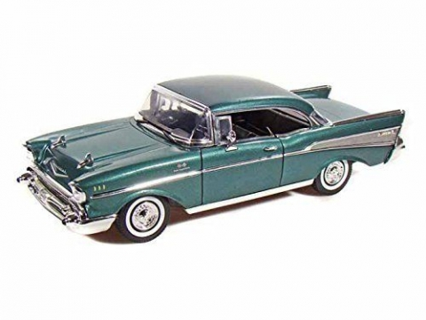 Chevy Bel Air 1957 Model Metal Araba Yeşil 1:18