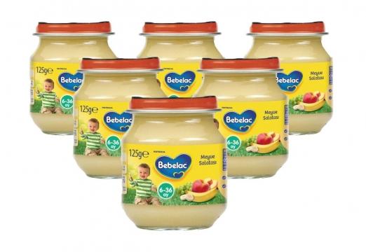 Bebelac Kavanoz Maması Meyve Salatası 6'lı 125 gr