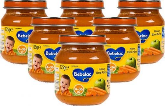 Bebelac Kavanoz Maması Havuç Elma Püresi 6'lı 125 gr
