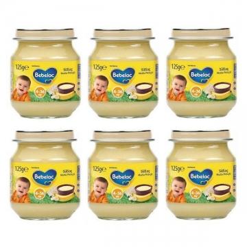 Bebelac Kavanoz Maması Sütlaç Muzlu Pirinçli 6'lı 125 gr