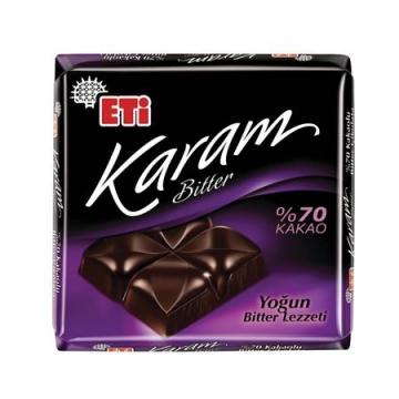 Eti Karam Bitter %70 Kakaolu Yoğun Bitter Tablet Çikolata 70 g