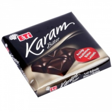 Eti Karam Bitter %45 Kakaolu Acısı Azaltılmış Tablet Çikolata 70 gr