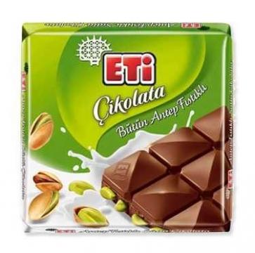 Eti Bütün Antep Fıstıklı Çikolata Tablet 70 gr