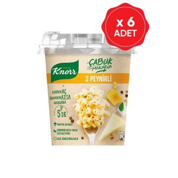 Knorr Çabuk Makarna 3 Peynirli 57 Gr x 6 Adet