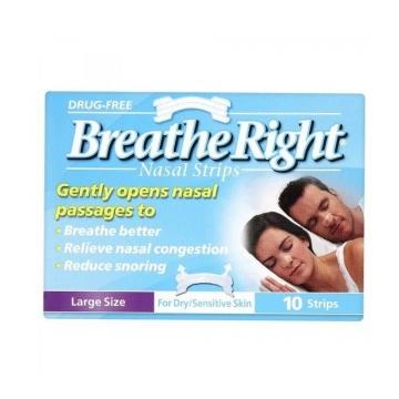 Breathe Right Şeffaf Burun Bantları Büyük Boy Hassas Ciltler İçin 10 Adet