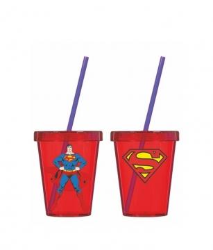 Herevin Superman Desenli Pipetli Bardak 450 cc