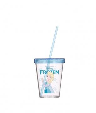 Herevin Frozen Desenli Pipetli Bardak 450 cc