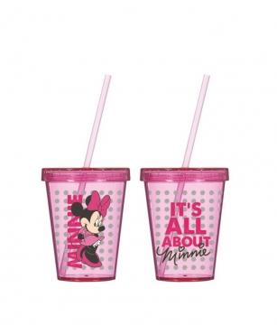 Herevin Minnie Mouse Desenli Pipetli Bardak 450 cc