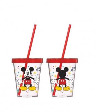 Herevin Mickey Mouse Desenli Pipetli Bardak 450 cc