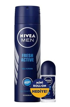 Nivea Men Fresh Deodorant 150 Ml + Roll-On 25 Ml Hediyeli