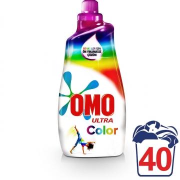 Omo Ultra Konsantre Sıvı Çamaşır Deterjanı Renkliler İçin 40 Yıkama 1400 ml
