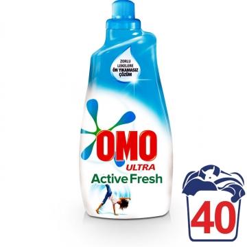 Omo Ultra Konsantre Sıvı Çamaşır Deterjanı Active Fresh 40 Yıkama 1400 ml