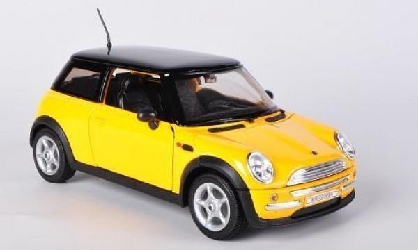 Welly Mini Cooper Model Araba Sarı 1:18