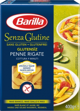 Barilla Penne Rigate Glutensiz Makarna 400 gr