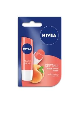 Nivea Fruity Shine Şeftali Lipstick 4,8 gr Dudak Bakım Kremi