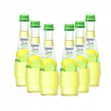 Sırma Schorle Yeşil Limonlu Doğal Zengin Mineralli Gazlı İçecek 200 ml x 6 Adet