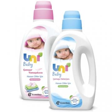 Uni Baby Çamaşır Yumuşatıcı 1500 ml + Uni Baby Çamaşır Deterjanı 1500 ml