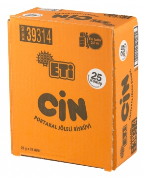 Eti Cin Portakal 25 gr x 36 Adet