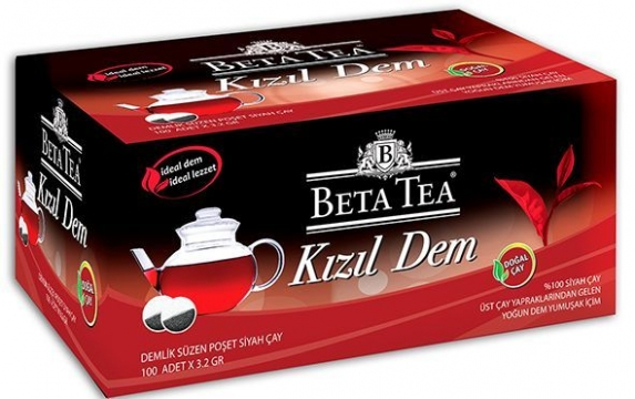 Beta Çay Kızıl Dem Demlik Poşet Çay 3.2 gr x 100 Adet
