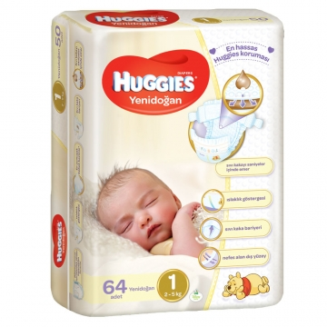 Huggies Yenidoğan No:1 64 Adet
