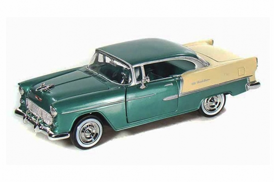 Motor Max Chevy Bel Air 1955 Model Metal Araba 1:24 Yeşil