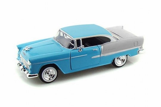 Motor Max Chevy Bel Air 1955 Model Metal Araba 1:24 Mavi