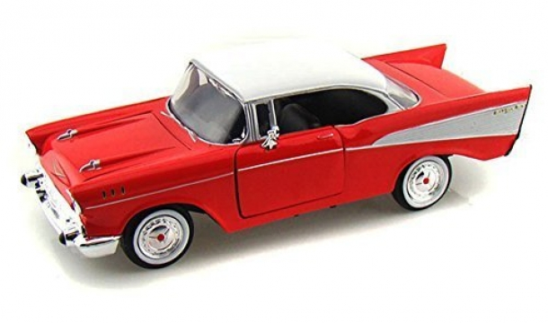 Motor Max Chevy Bel Air 1957 Model Metal Araba 1:24 Kırmızı