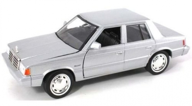Motor Max Plymouth Realiant 1983 Model Metal Araba 1:24 Gri
