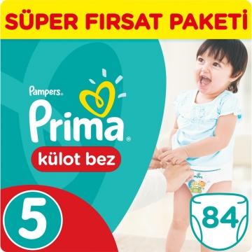 Prima Külot Bebek Bezi Süper Fırsat Paketi 5 Beden 84 Adet