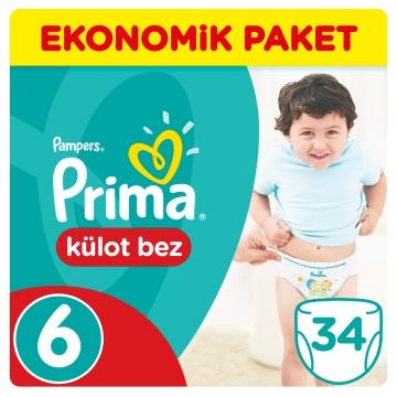 Prima Külot Bebek Bezi Ekonomik Paket 6 Beden 34 Adet