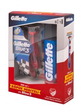 Gillette Blue 3 Kullan At 6 Adet + Tıraş Köpüğü Klasik Bakım 200 ml