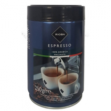 Rioba Öğütülmüş Espresso Kahve %100 Arabica Macinato 250 gr
