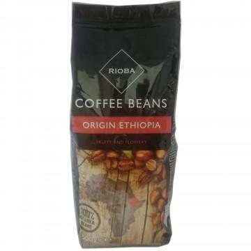 Rioba Coffee Beans Ethiopia Kavrulmuş Çekirdek Kahve 500 gr