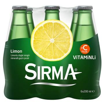 Sırma Limon Gazlı İçecek 200 ml x 6 Adet