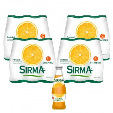 Sırma Portakal Aromalı Gazlı İçecek 200 ml x 24 Adet